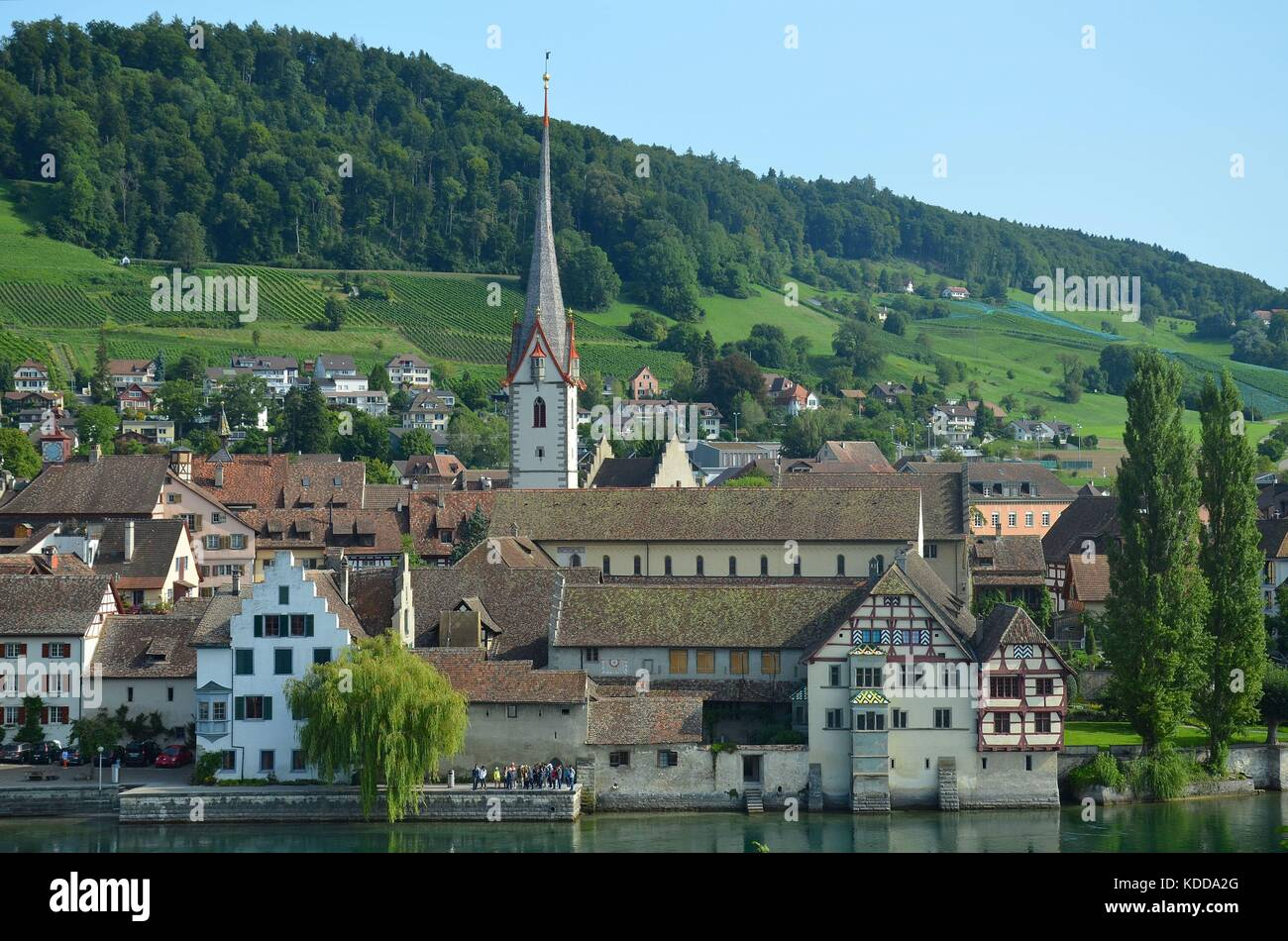 View of the historical town of Stein am Rhein, Switzerland - Stock Image
