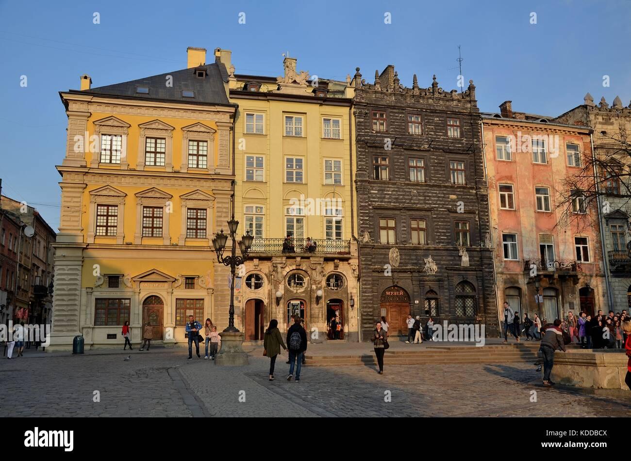 In der Altstadt von Lviv, Ukraine - Stock Image