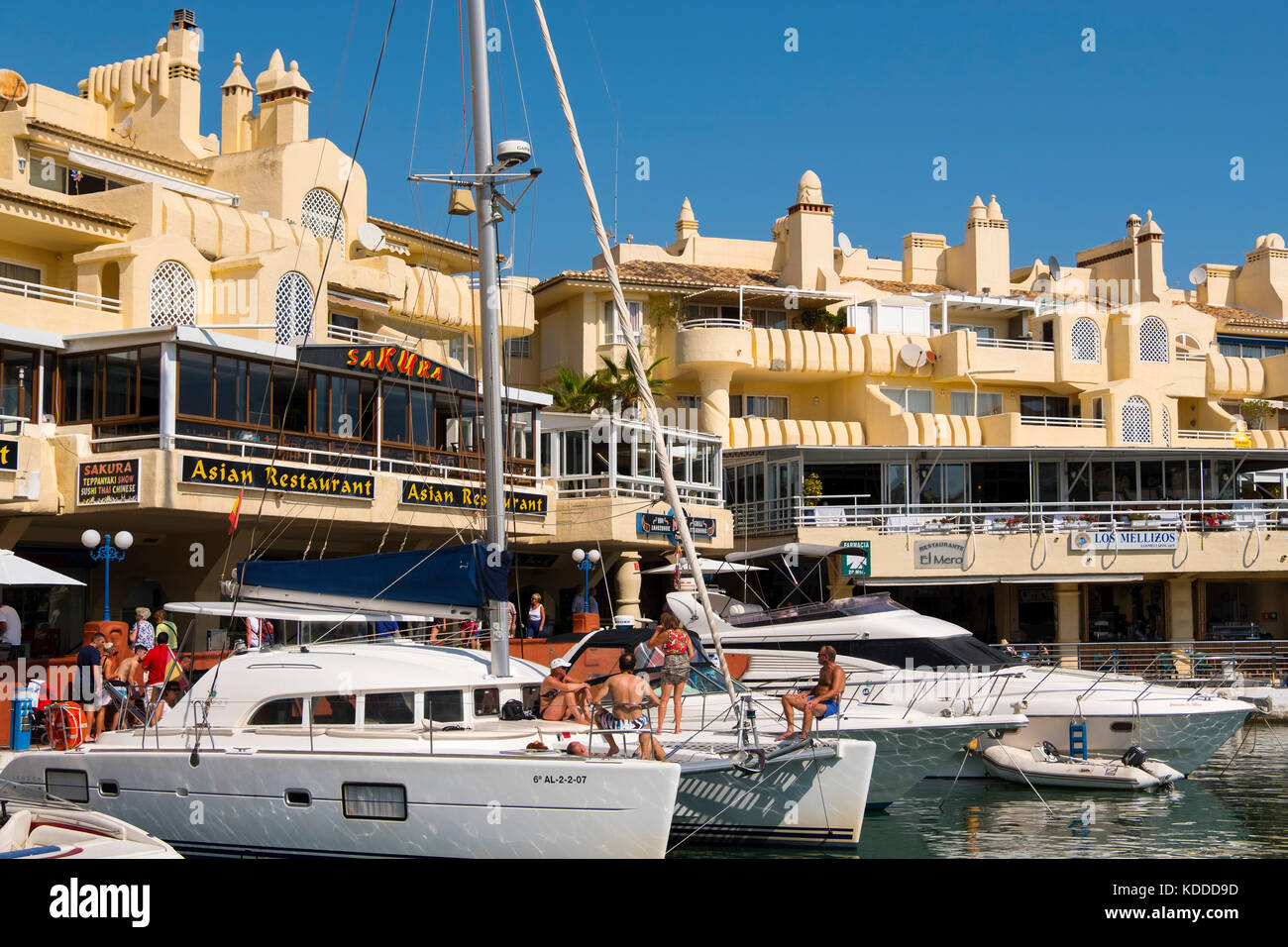 Puerto Marina, Yacht Harbour, Benalmadena. Málaga province, Costa del Sol, Andalusia. Southern Spain Europe Stock Photo