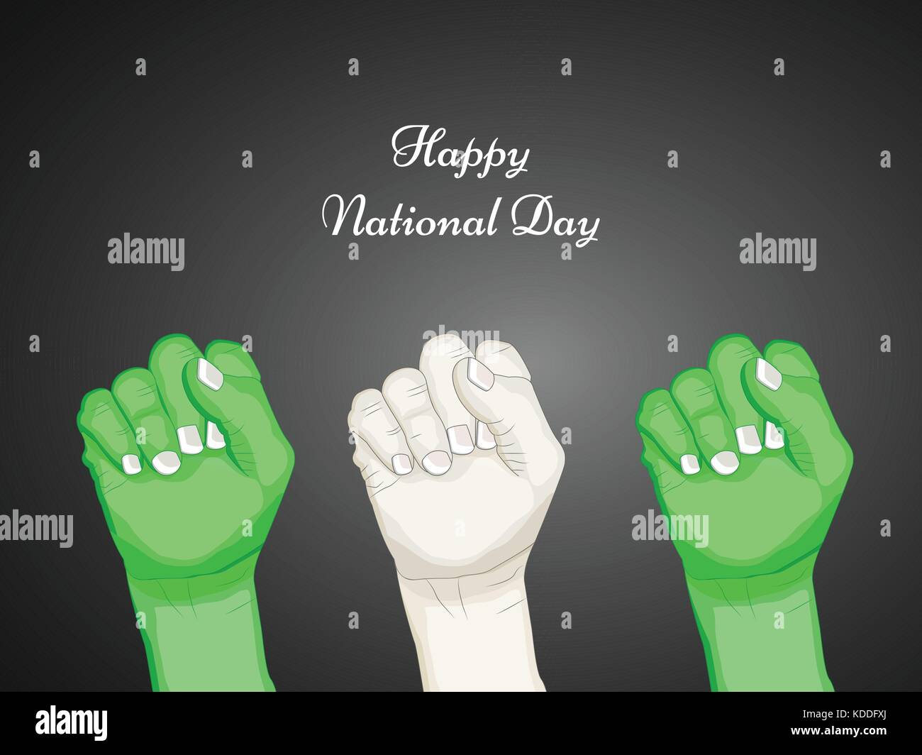 illustration of Nigeria National Day background - Stock Vector