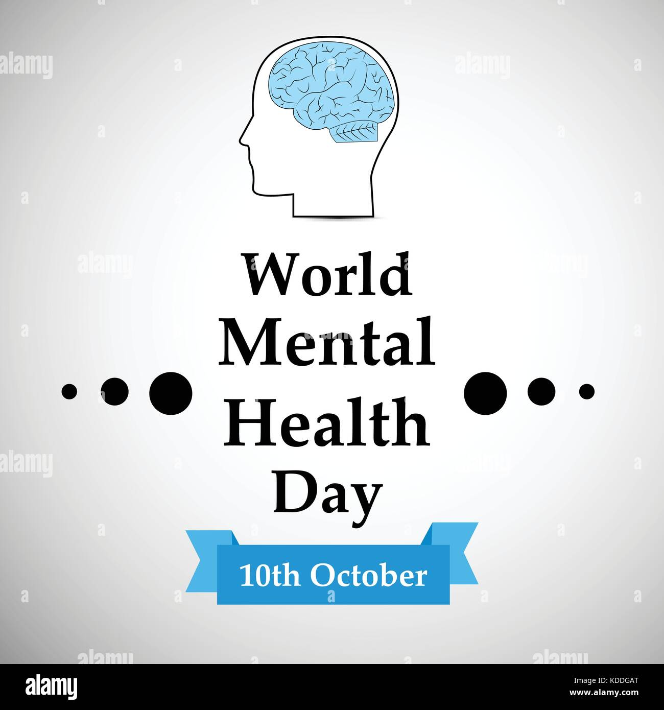 illustration of World Mental Health Day Background - Stock Vector