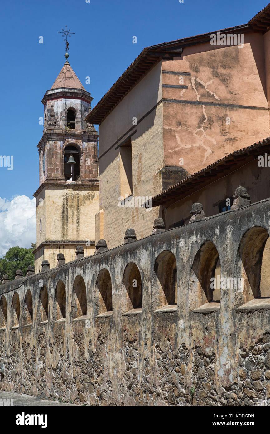 colonial architecture in Patzcuaro Michoacan Mexico - Stock Image