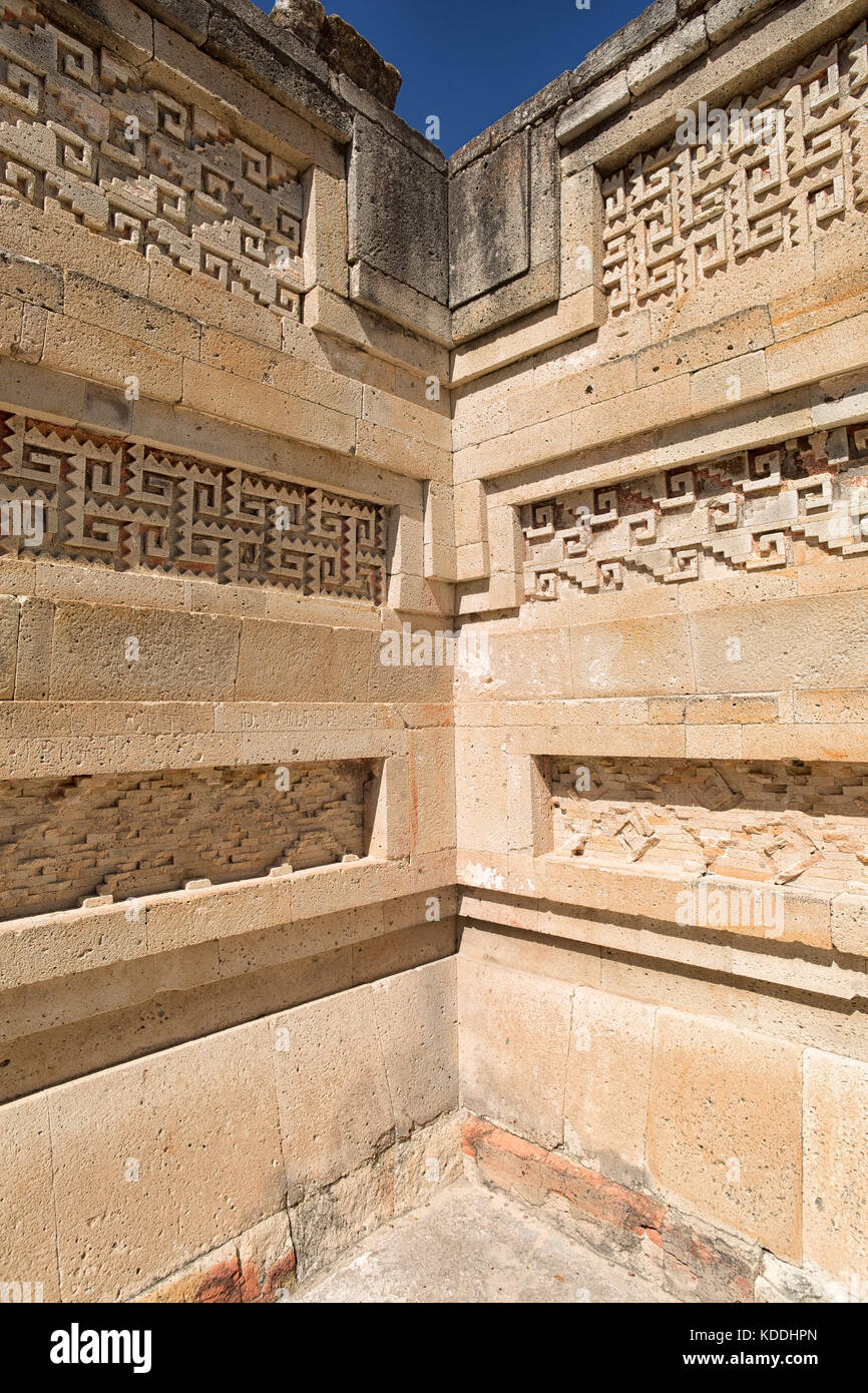elaborate and intricate mosaic fretwork and geometric designs that cover tombs, panels, friezes and even entire - Stock Image