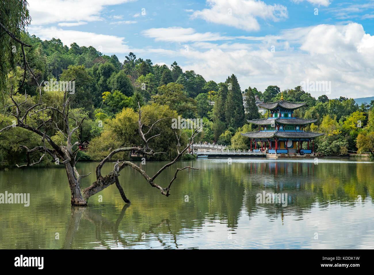 Black Dragon Pool Park, Lijiang, Yunnan, China - Stock Image