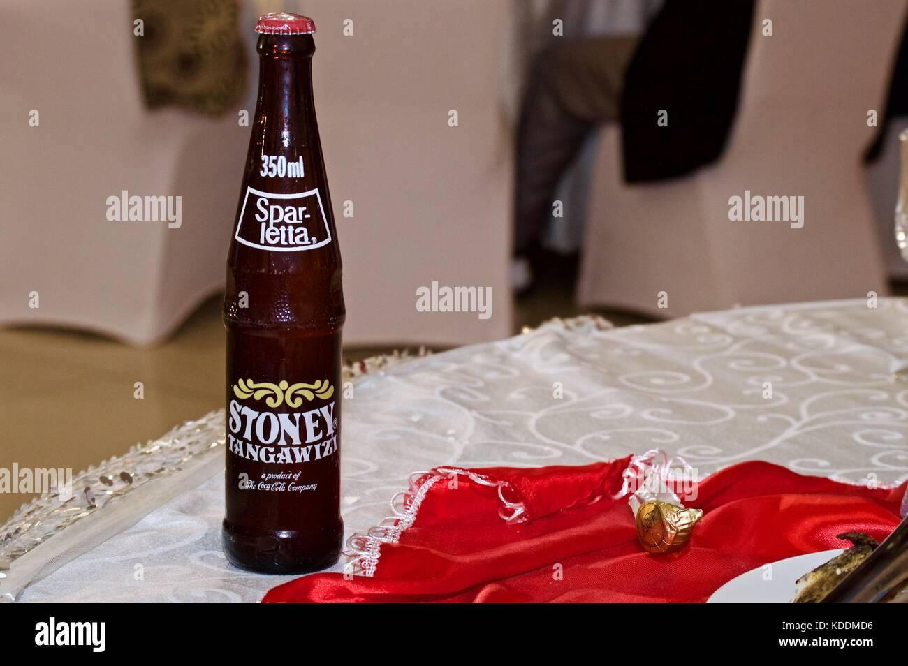 Bottle of Stoney Tangawizi, Tanzanian wedding - Stock Image