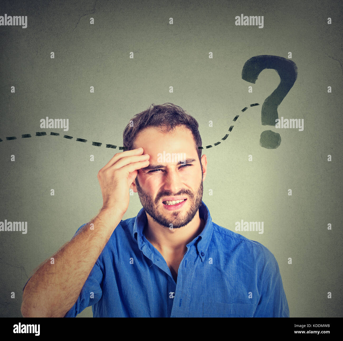 man thinking looking for a solution - Stock Image