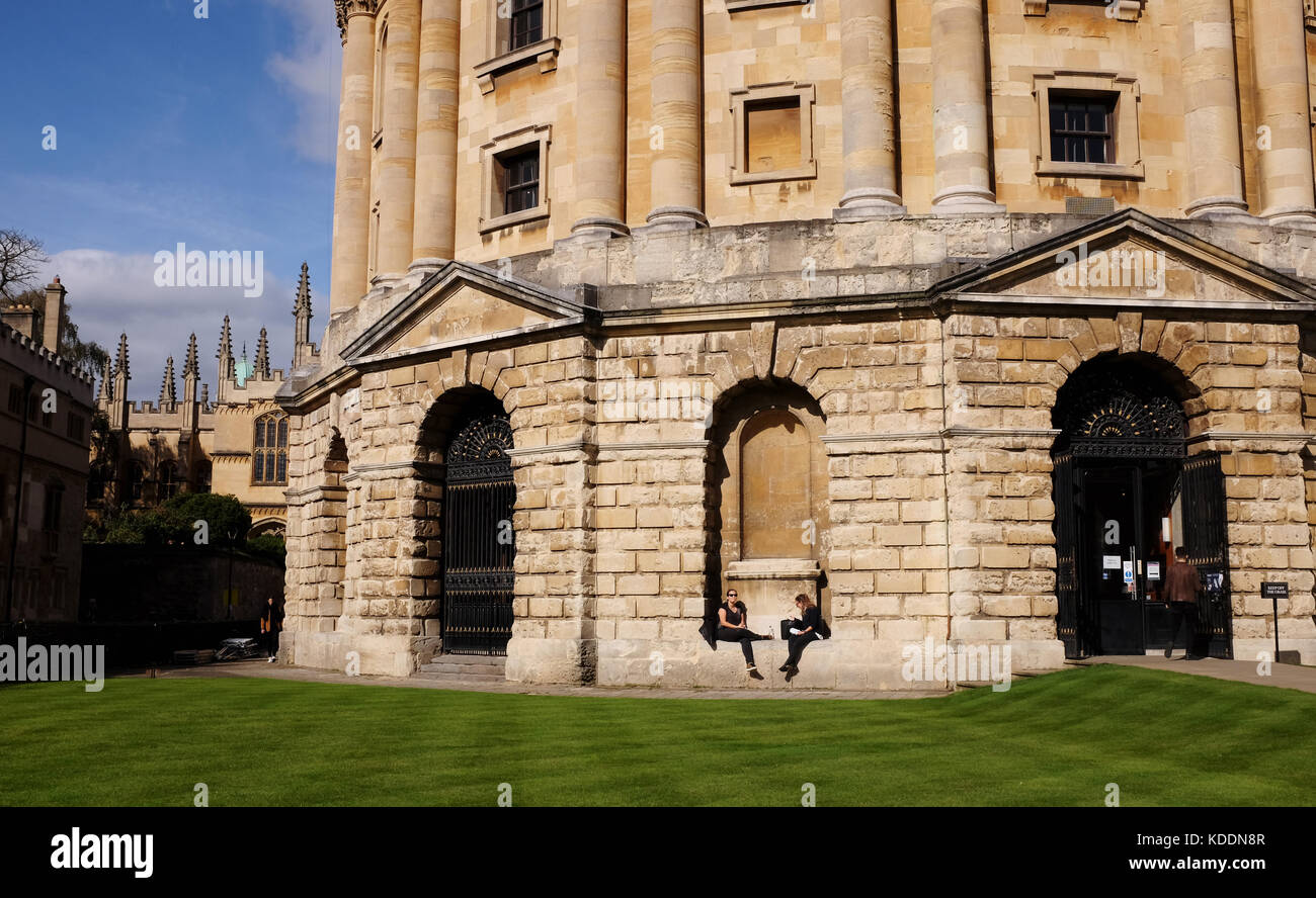 Oxford Oxfordshire UK - The Radcliffe Camera building part of the Bodleian Library in the centre of the university Stock Photo