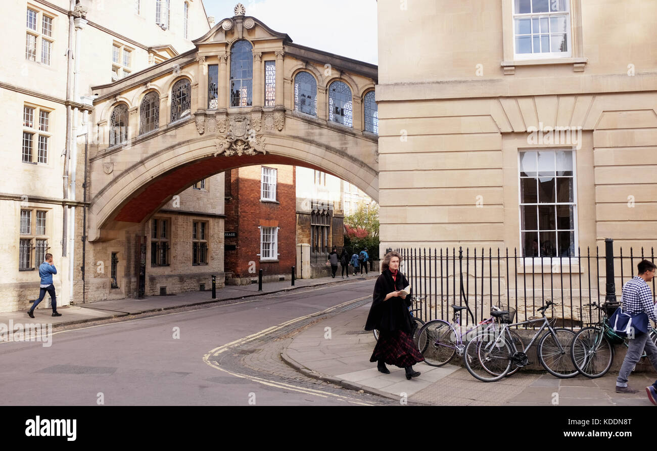 Oxford Oxfordshire UK - The Bridge of Sighs in Oxford city centre - Stock Image