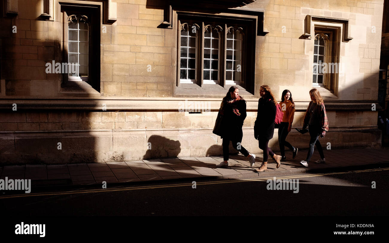 Oxford Oxfordshire UK - Walking in Oxford city centre - Stock Image