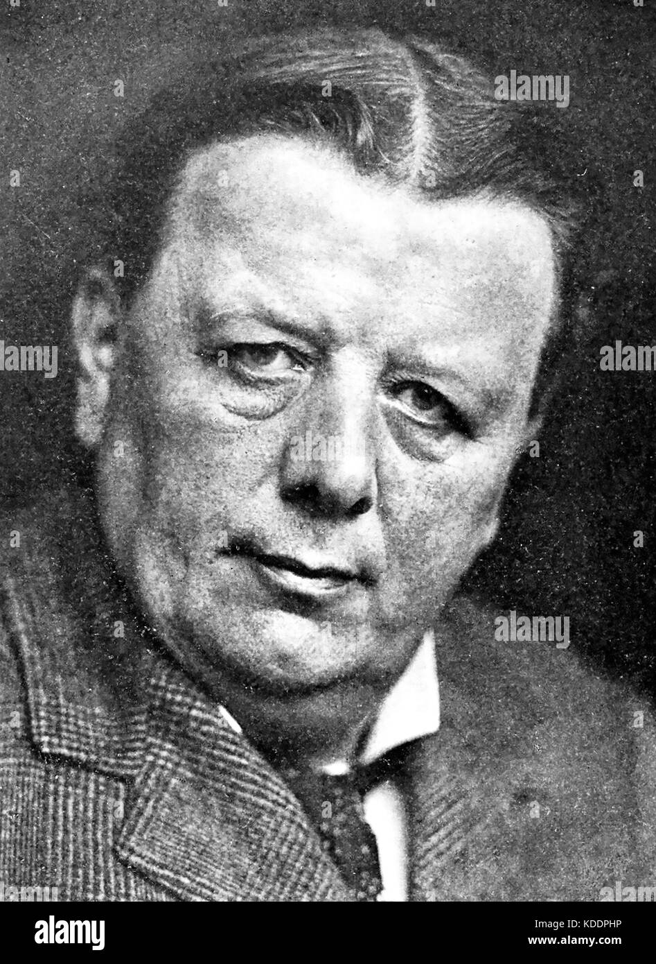 EDWIN RAY LANKESTER (1847-1929) here in 1908 shortly after resigning as President of the London Natural History - Stock Image