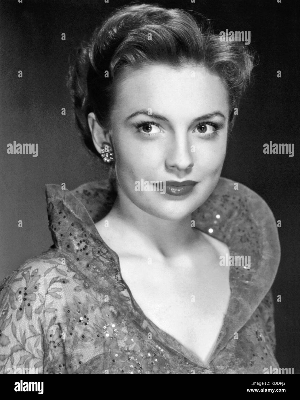 JOAN LESLIE (1925-2015) American film actress and dancer about 1955 - Stock Image