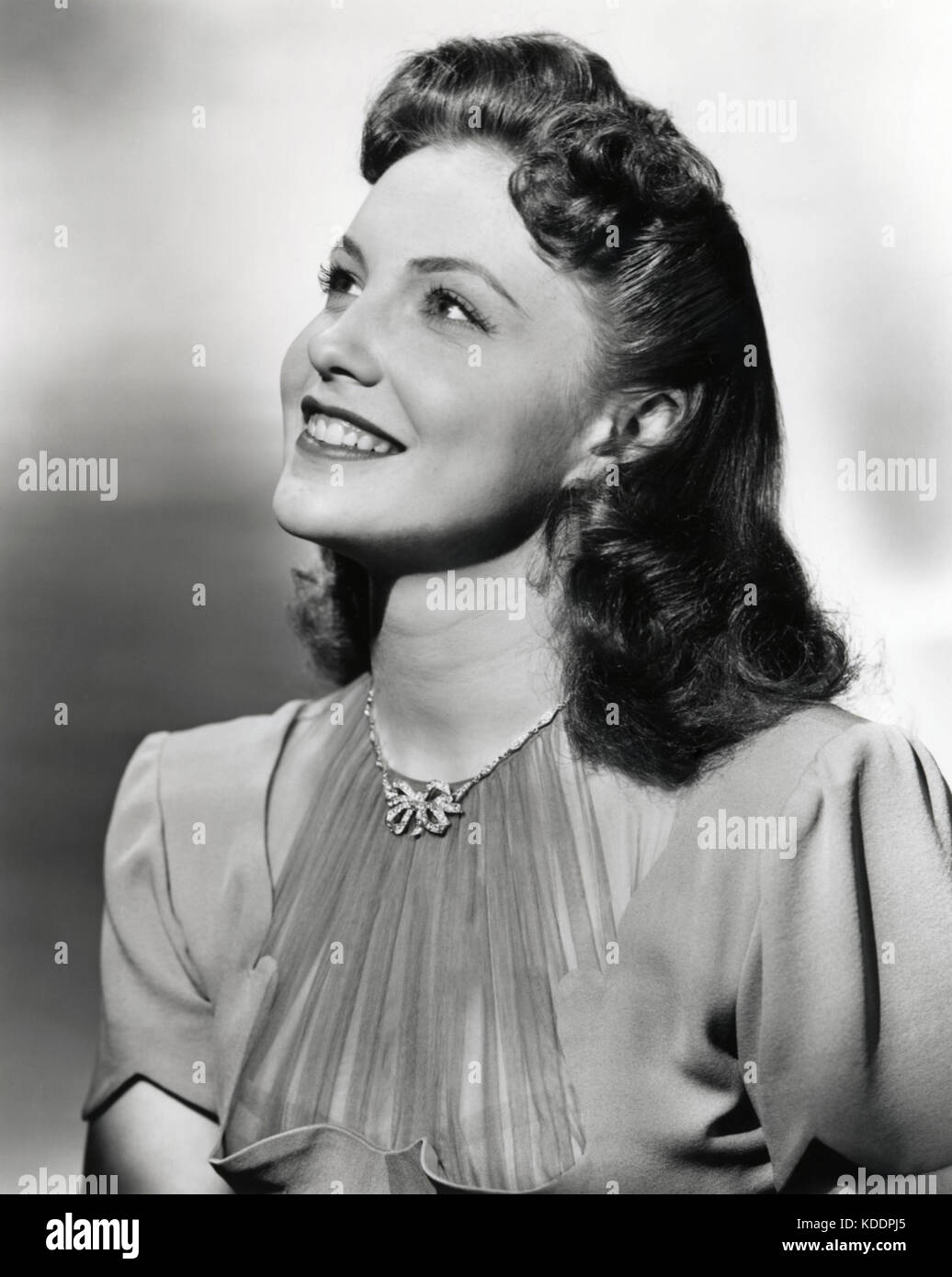 JOAN LESLIE (1925-2015) American film actress and dancer about 1937 - Stock Image
