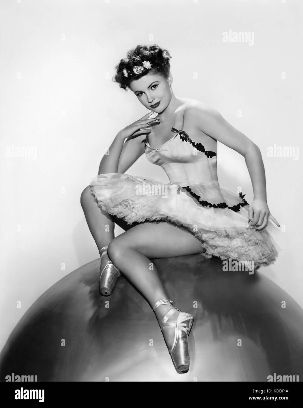 JOAN LESLIE (1925-2015) American film actress and dancer - Stock Image