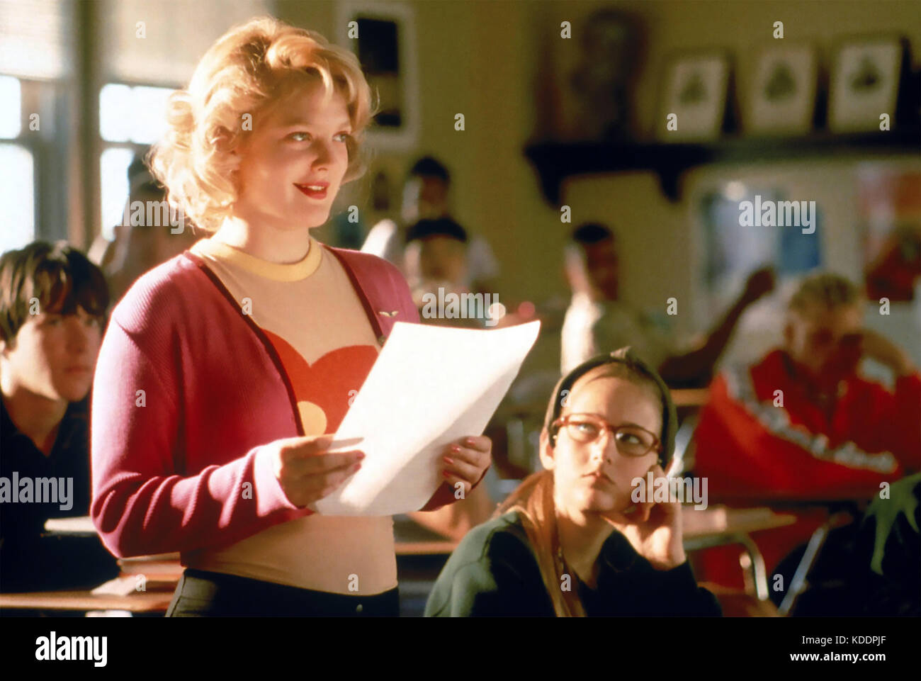 NEVER BEEN KISSED 1999  Fox 2000 Pictures film with Drew Barrymore - Stock Image