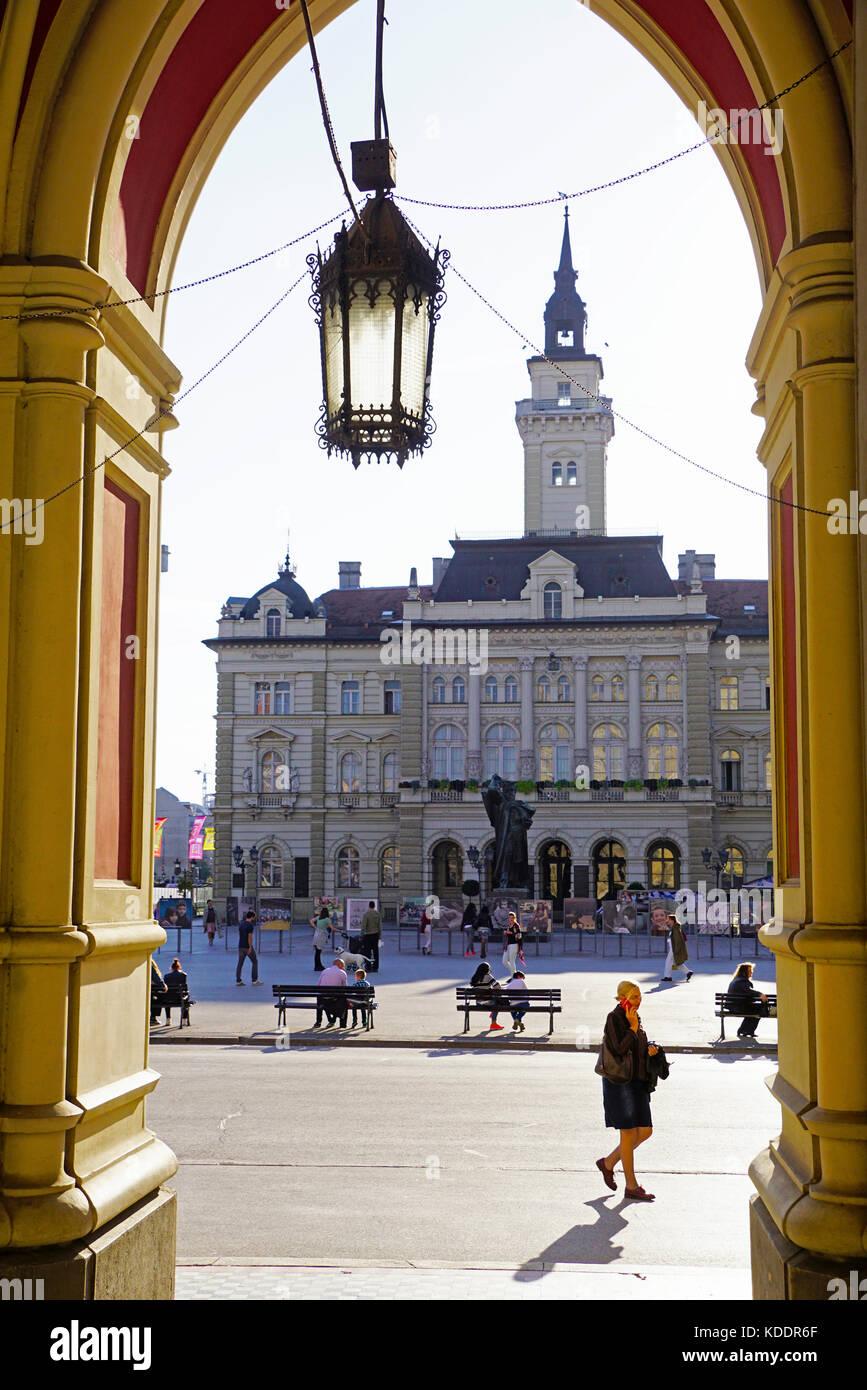 City Hall in Novi Sad, Serbia - Stock Image