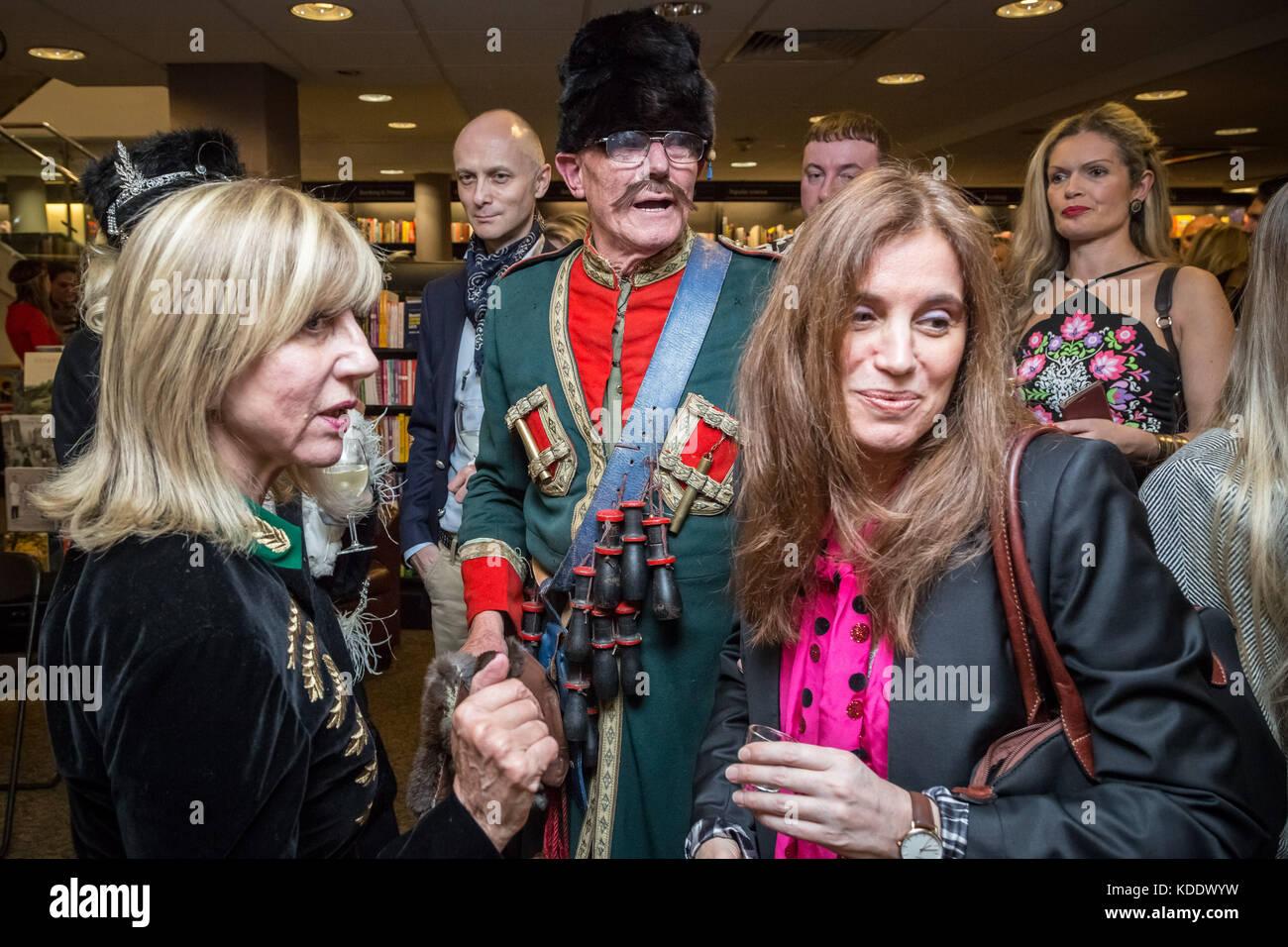 London, UK. 12th Oct, 2017. Princess Olga Romanoff (in blue), descendant of the last Tsar of Russia, Nicholas II, - Stock Image
