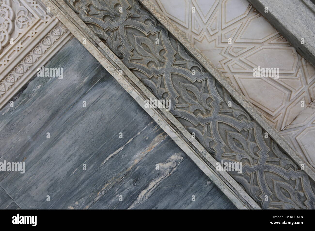 Muster Marokko an Türe und Wand - Morocco pattern on door and wall - - Stock Image