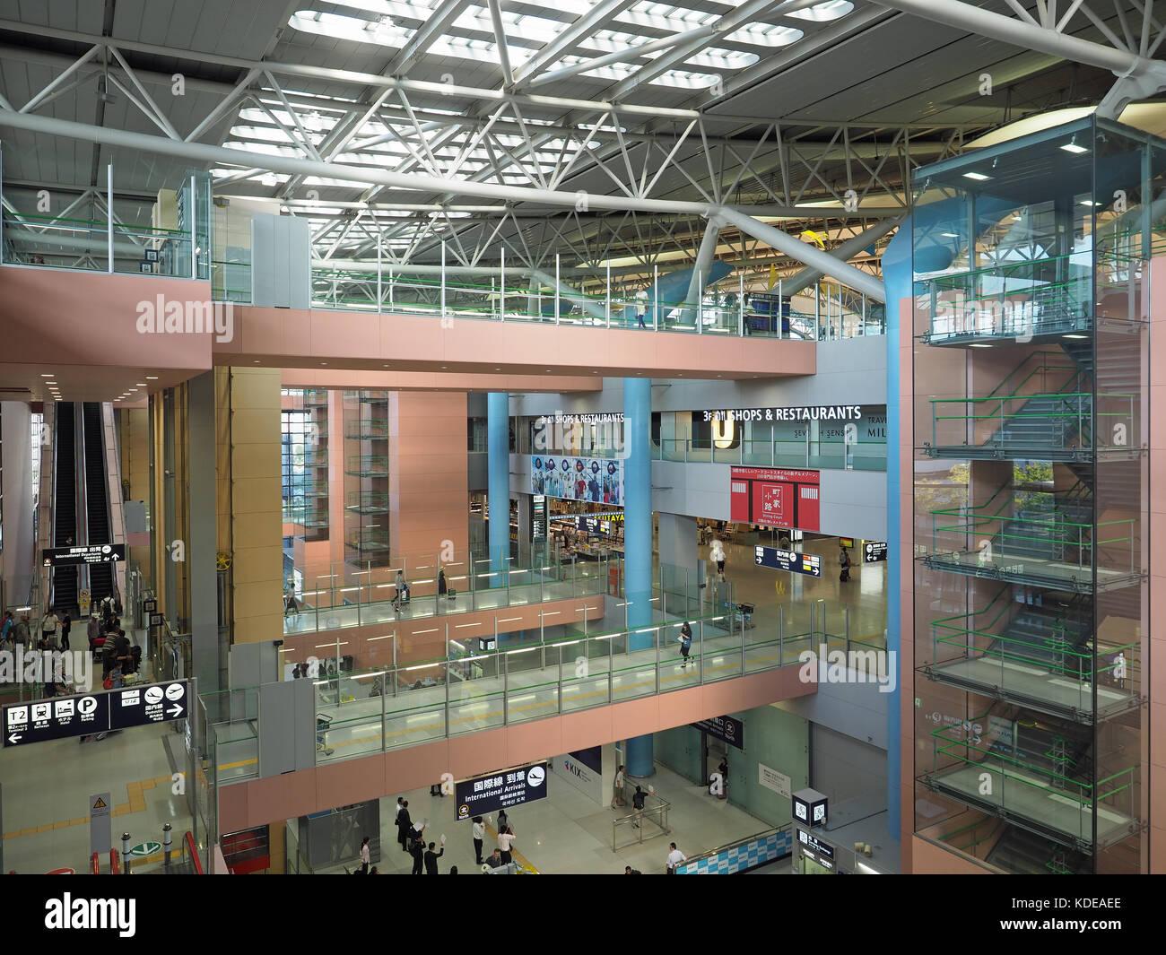 View of the interior of Kansai KIX airport in Osaka Japan - Stock Image