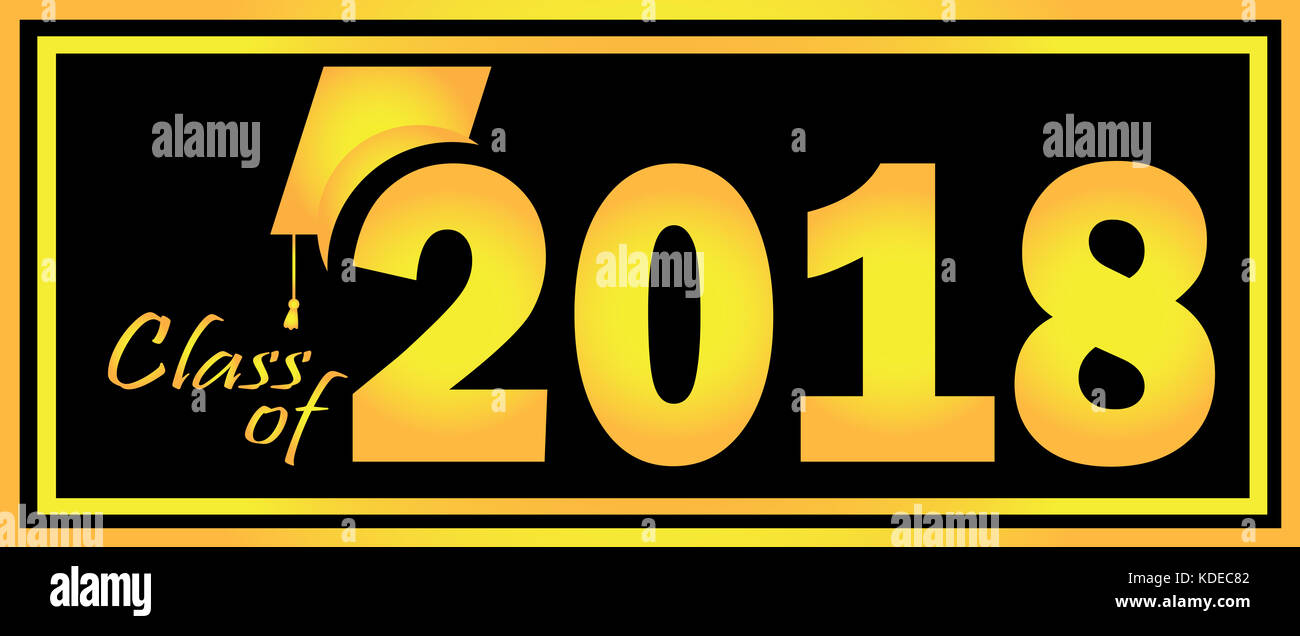 Class of 2018 Banner - Stock Image