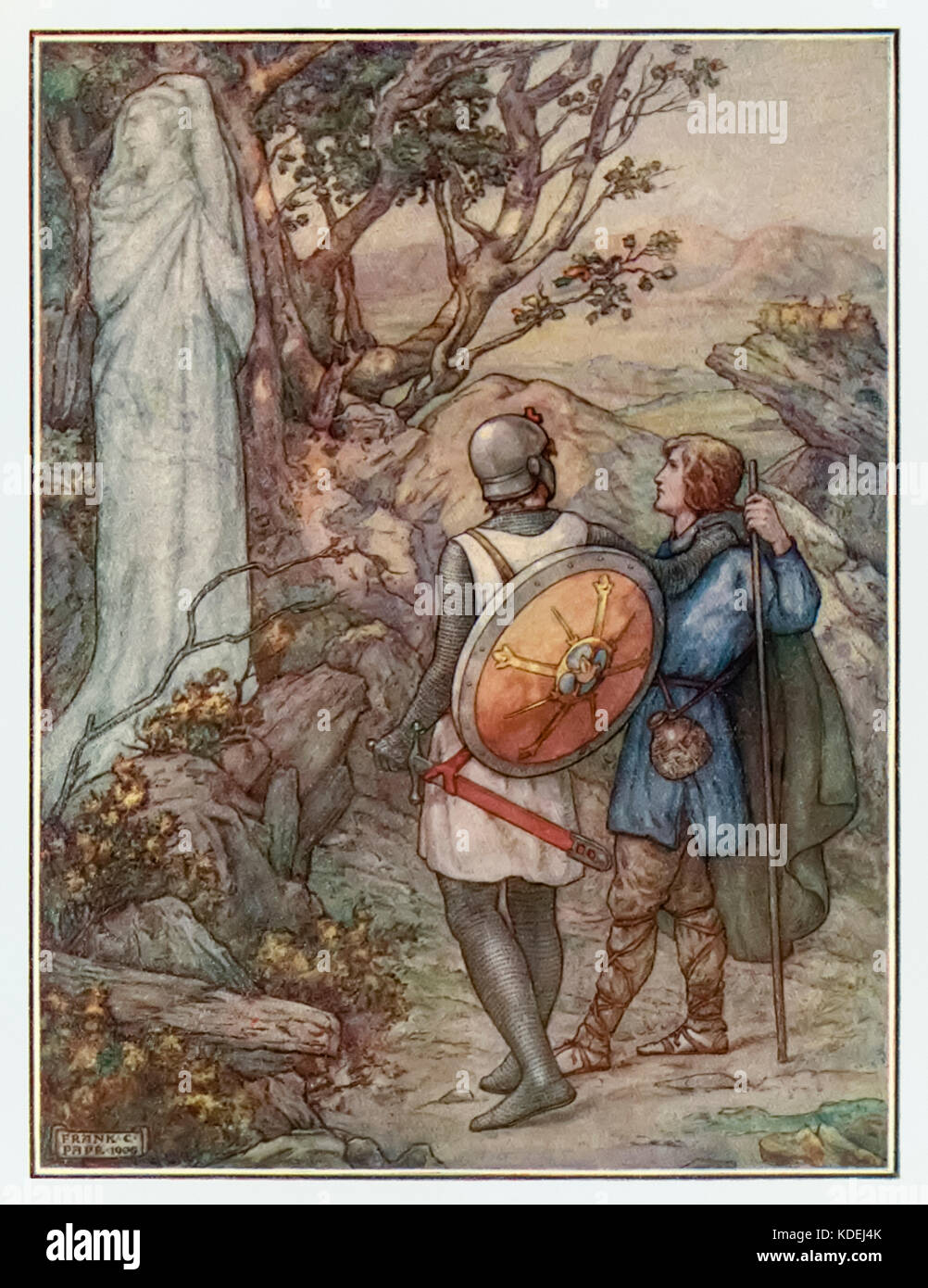 """Remember Lot's wife"" from 'The Pilgrim's Progress' by John Bunyan (1628-1688). Illustration by Frank C. Papé - Stock Image"