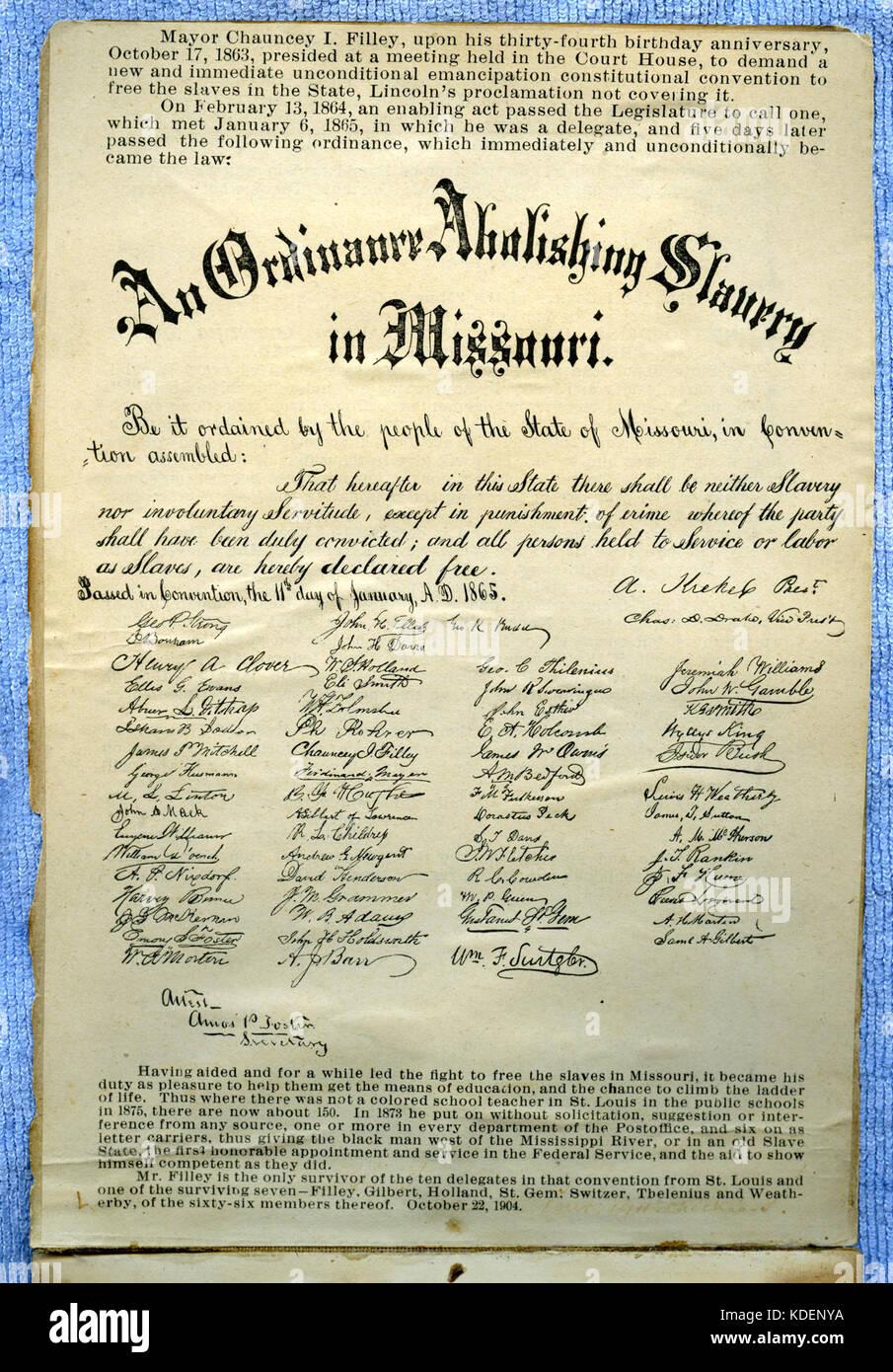 Missouri Constitutional Convention of 1865 Album inside