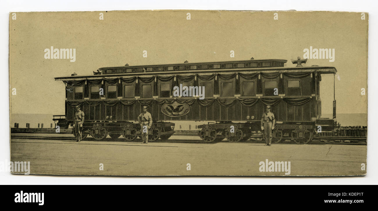 Lincoln Funeral Car On The Old Tracks Of The Illinois Central R R