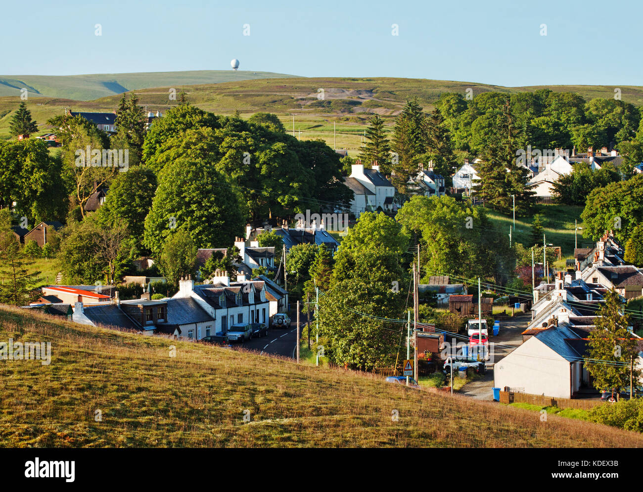 Leadhills from the hillside - Stock Image
