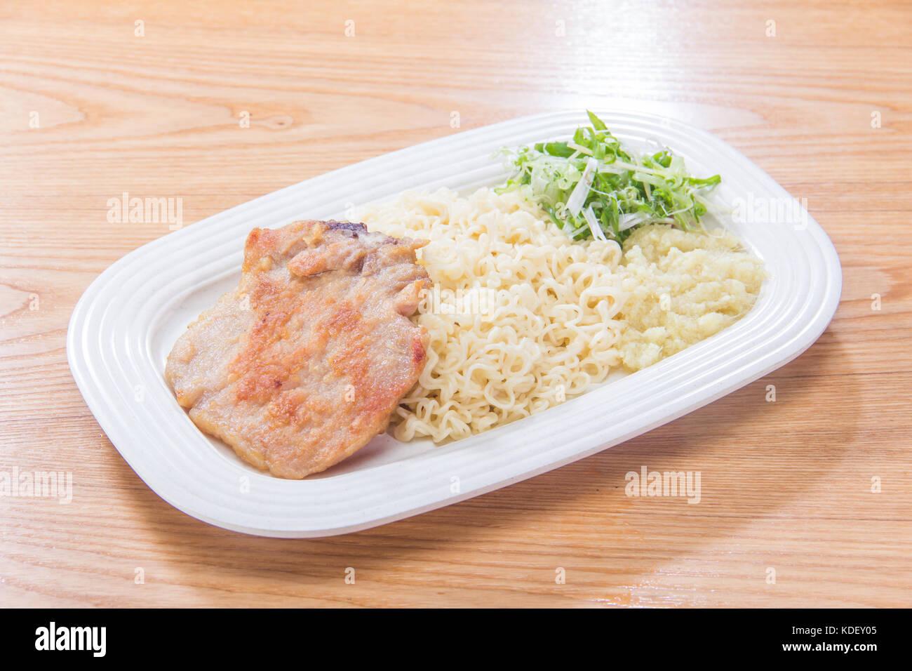 dried noodles cuisine - Stock Image