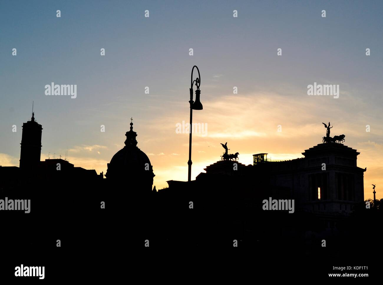 Roman Forum at sunset, Rome, Italy, July 2017. - Stock Image