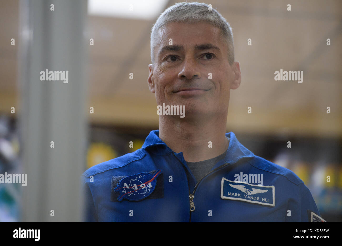 NASA International Space Station Expedition 52 Soyuz MS-05 backup crew member American astronaut Mark Vande Hei Stock Photo
