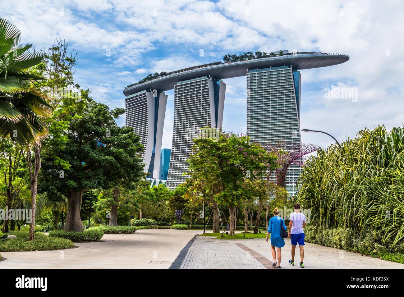 Luxury Marina Bay Sands, Singapore - Stock Image