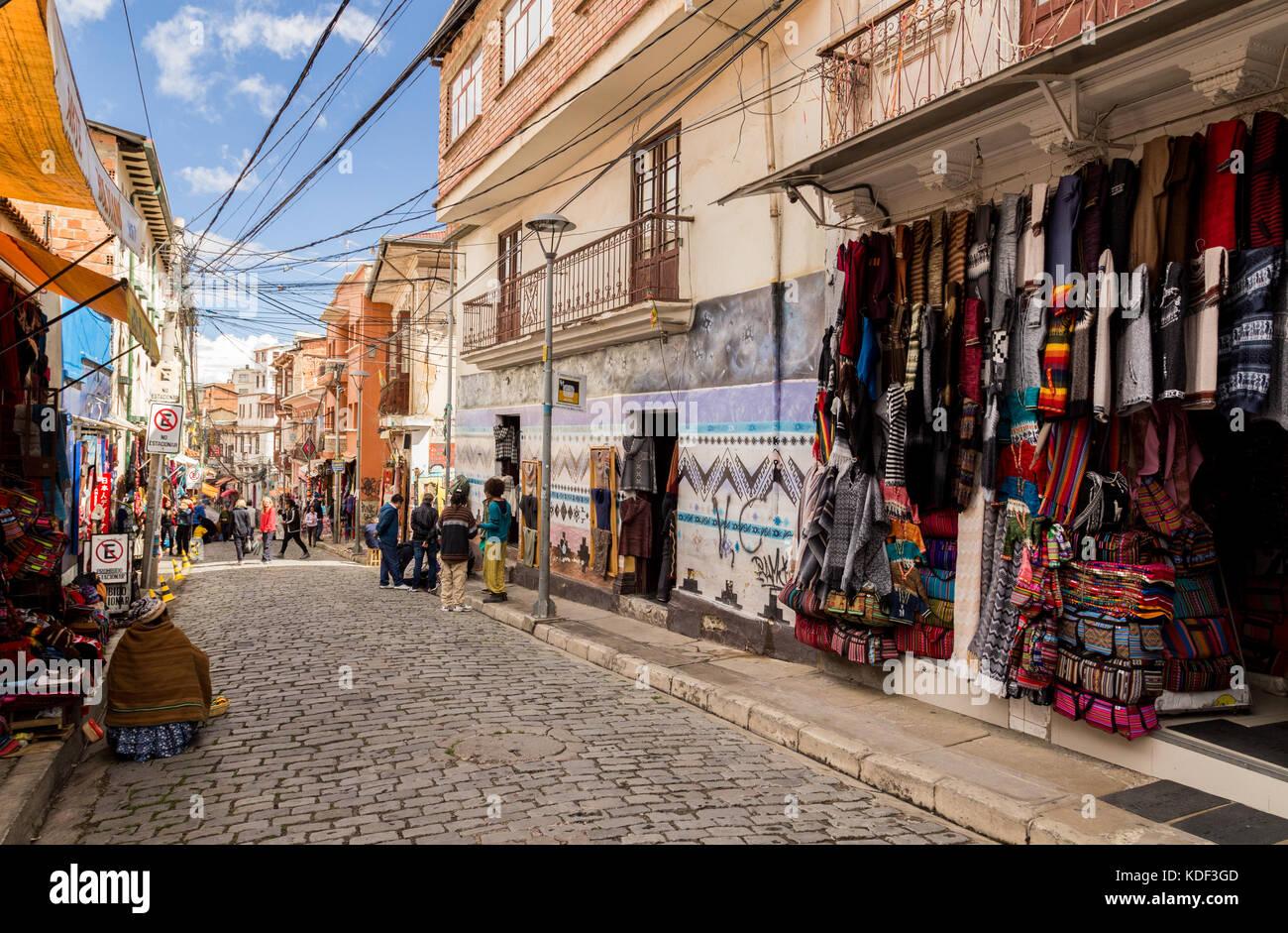 Witches' Market, La Paz, Bolivia - Stock Image