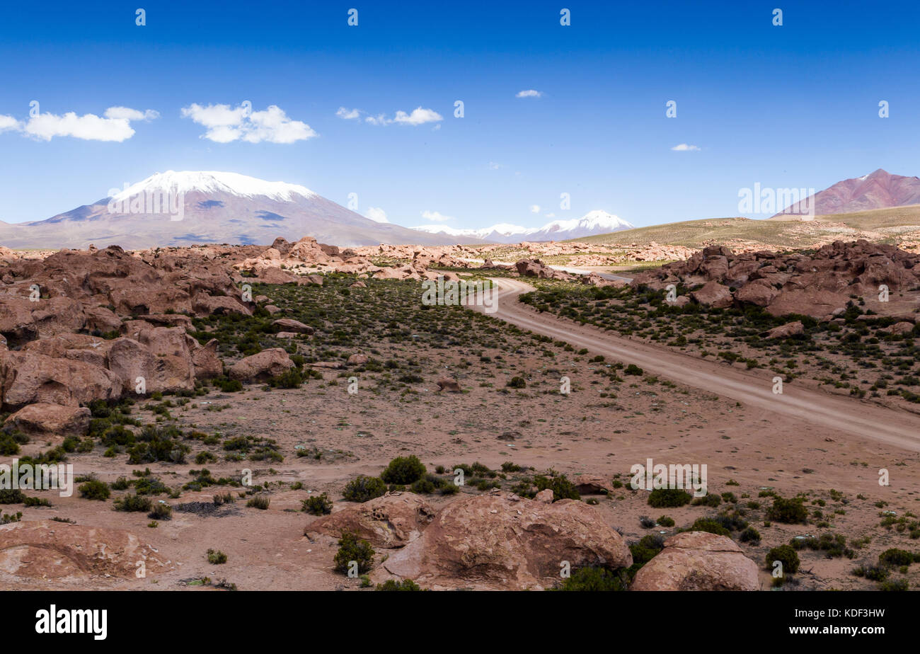 Drive in the desert, Bolivia - Stock Image