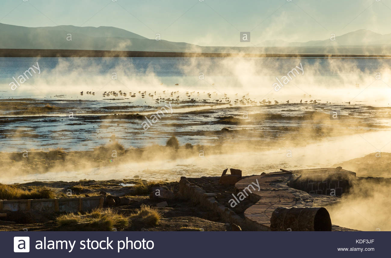 Polques Hot Springs, Bolivia - Stock Image