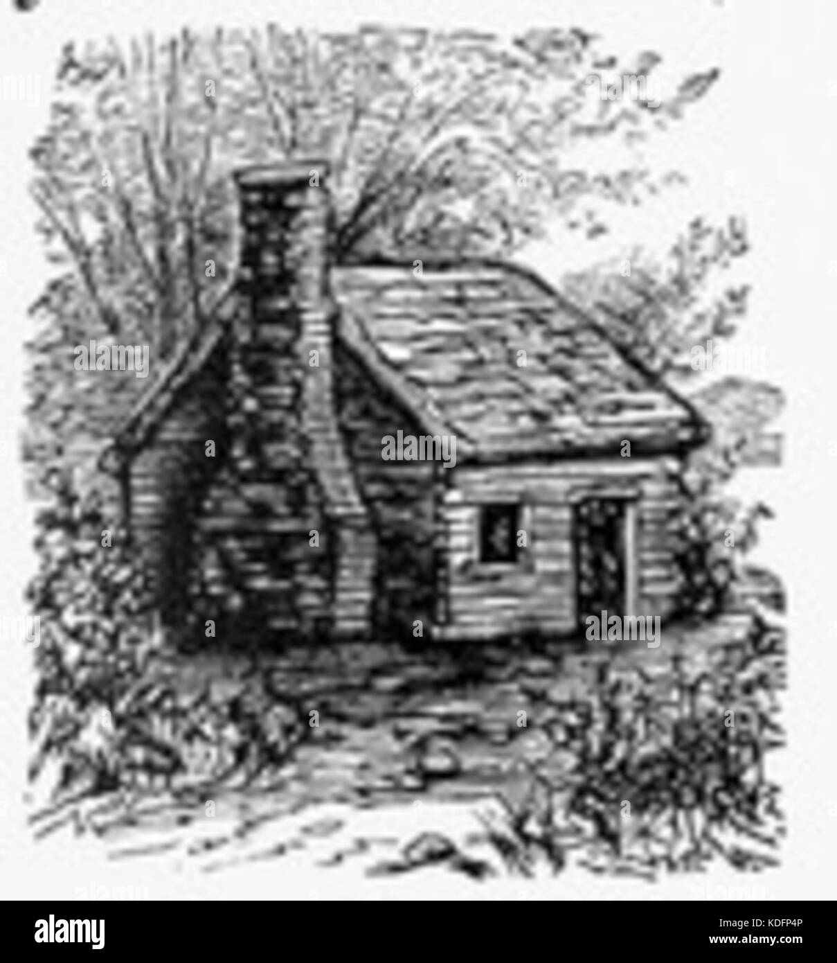 Log Cabin Drawing Stock Photo 163230502