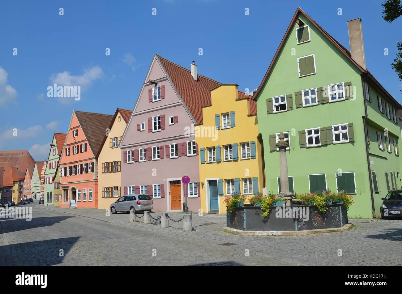 historische Stadt Dinkelsbühl - Stock Image