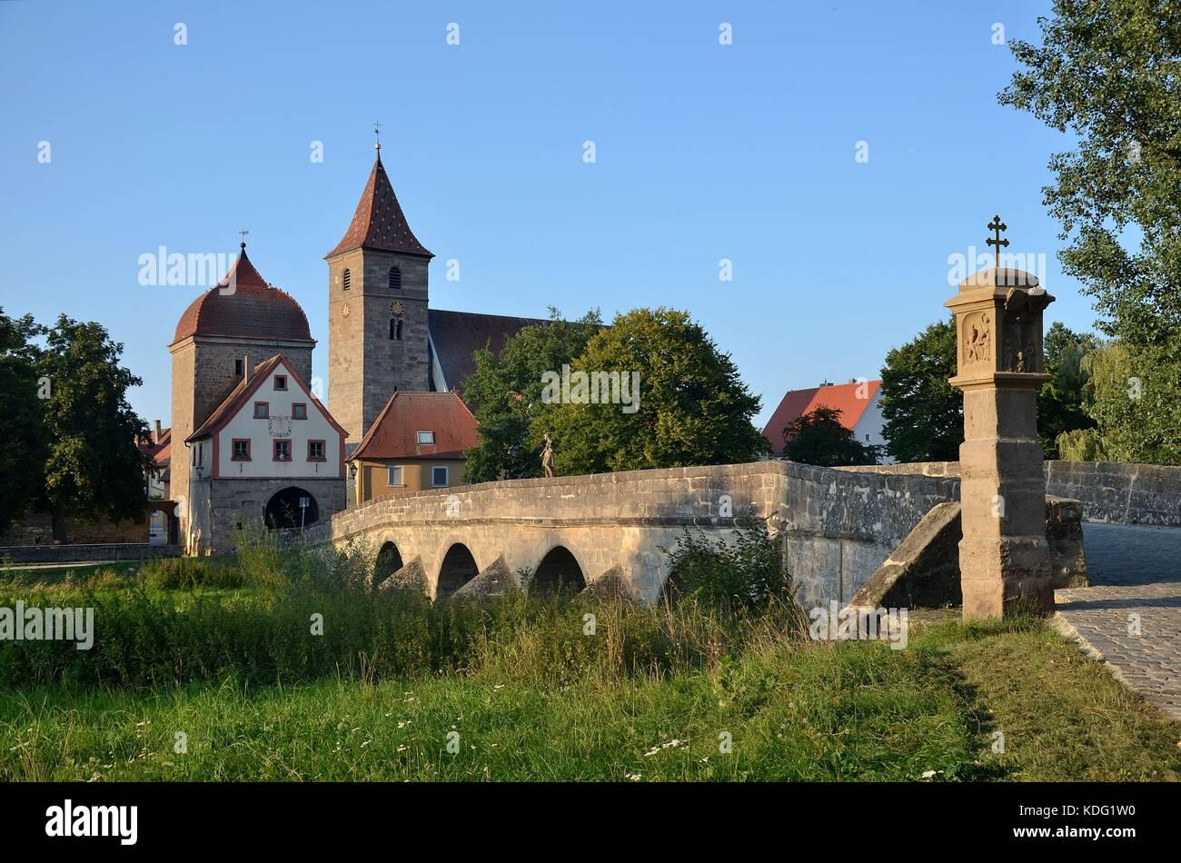 Die alte Stadt Ornbau in Franken - Stock Image