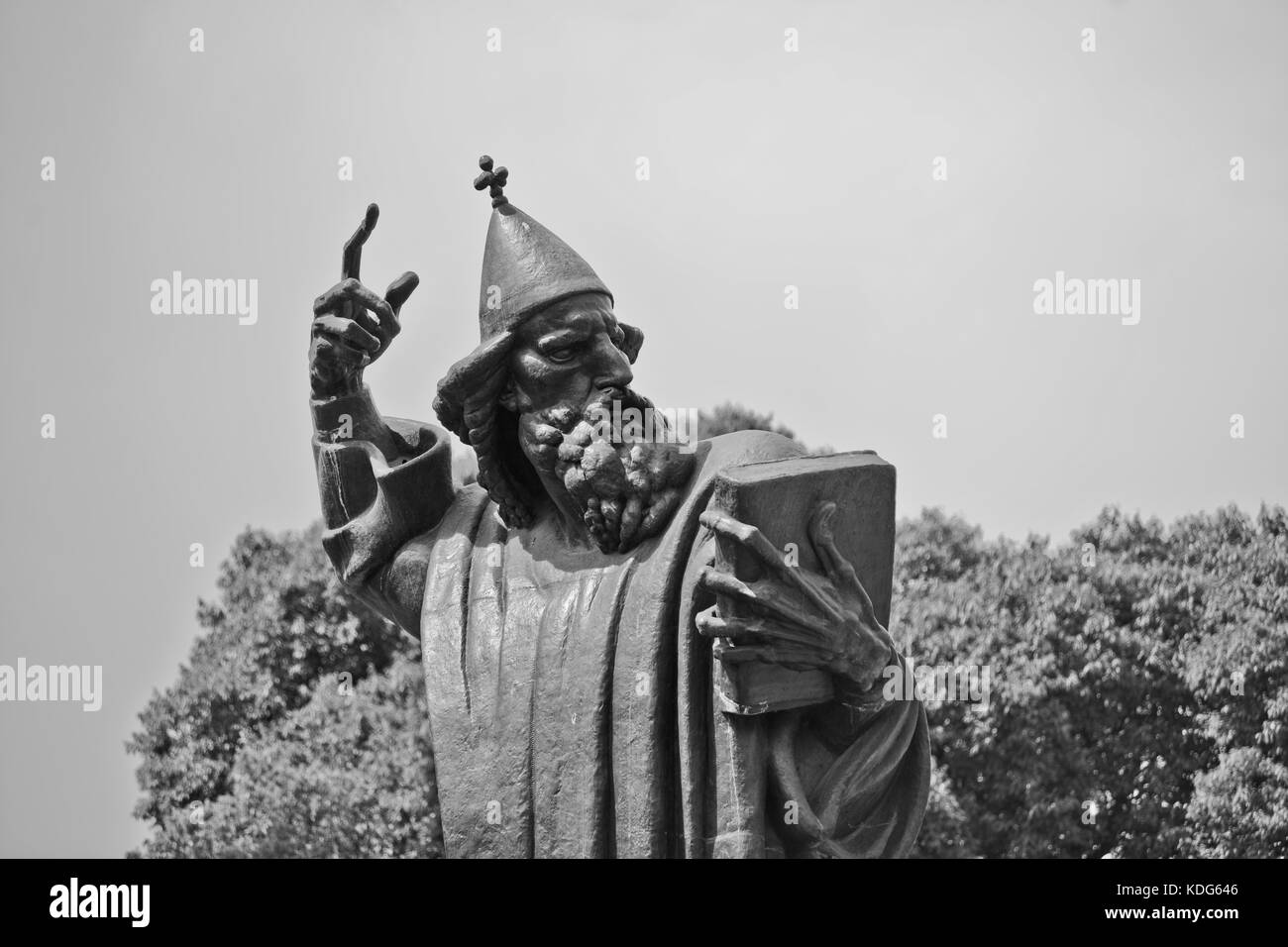 Statue of Gregory of Nin, by Ivan Mestrovic, Split, Croatia - Stock Image