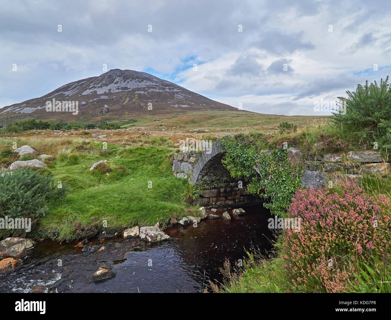 Poisened Glen looking towards Mount Errigal Letterkenny County Donegal Ireland - Stock Image