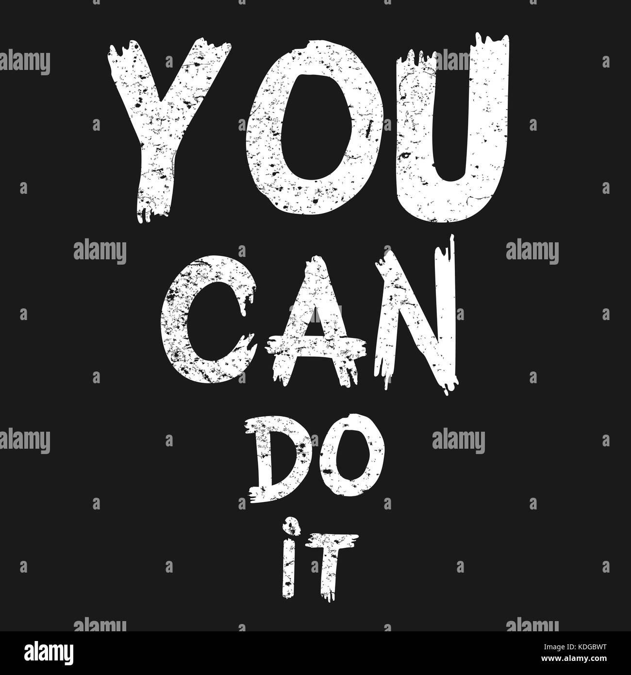 Inspirational Quote You Can Do It Hand Written Calligraphy Brush