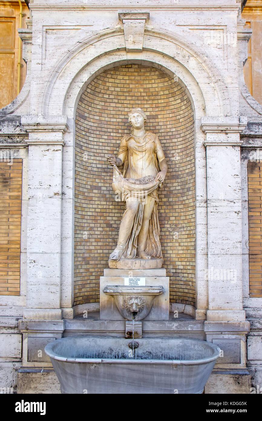 Classic Sculpture Vatican Museum Rome Stock Photos