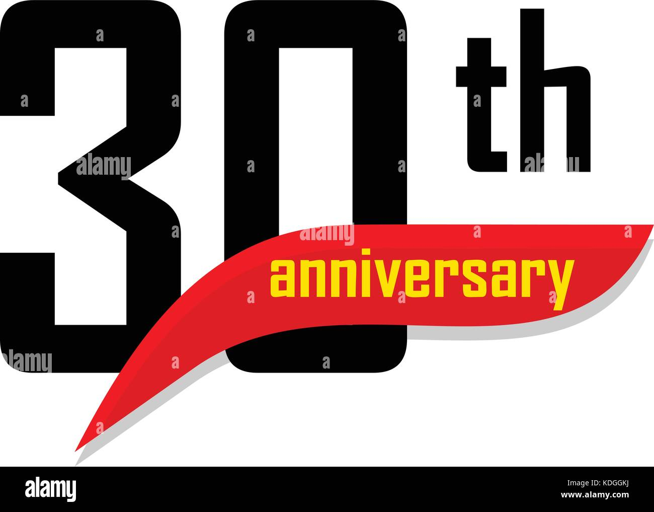 Wedding Anniversary 30th Stock Vector Images Alamy