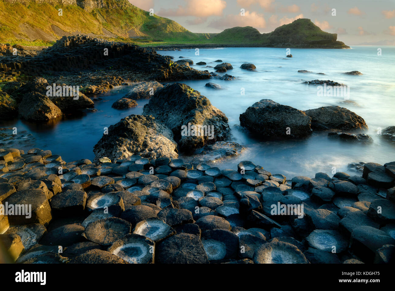Rock formations. Giants Causway.  Nortnern Ireland - Stock Image