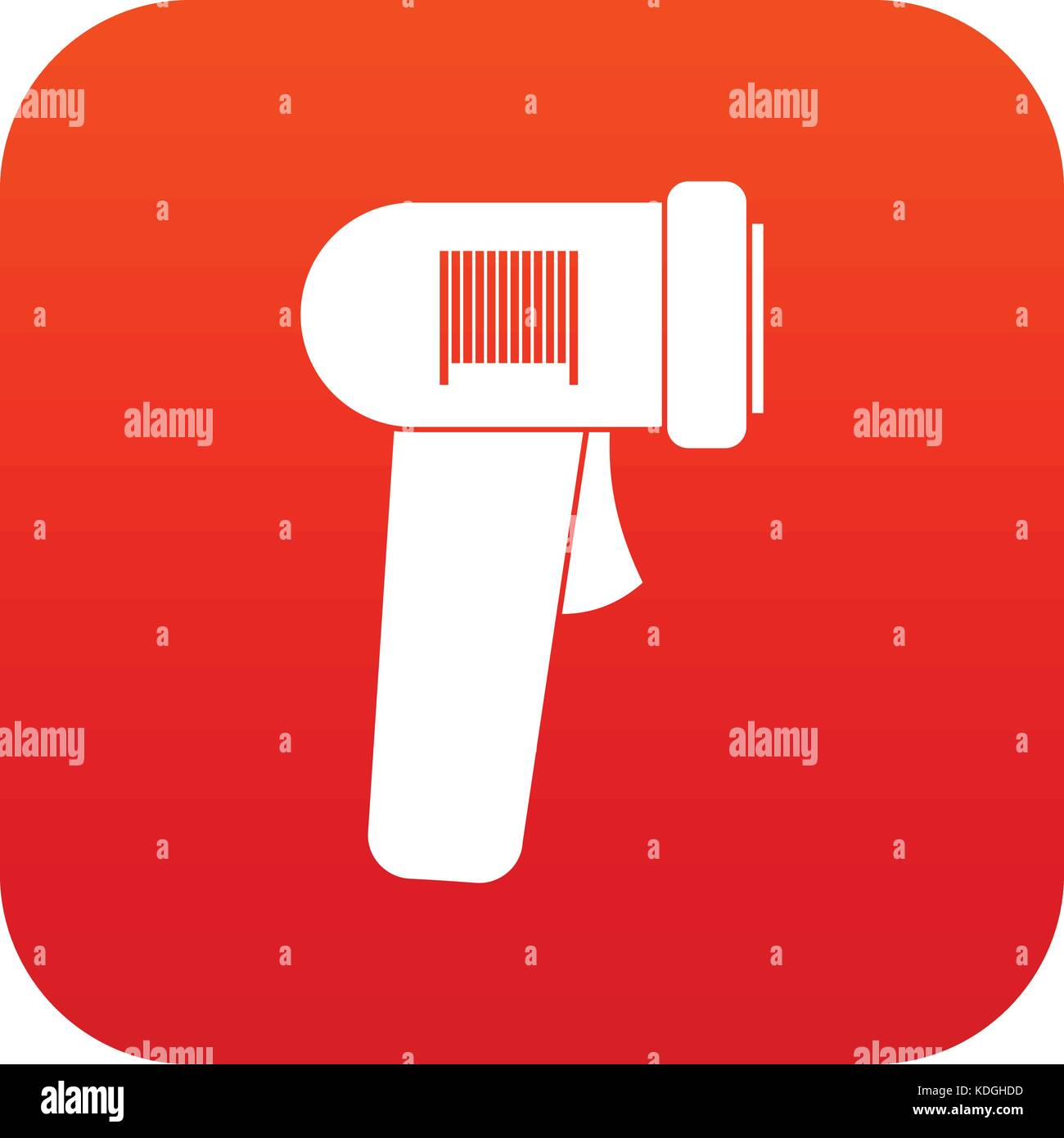 Barcode Scanner Icon Digital Red