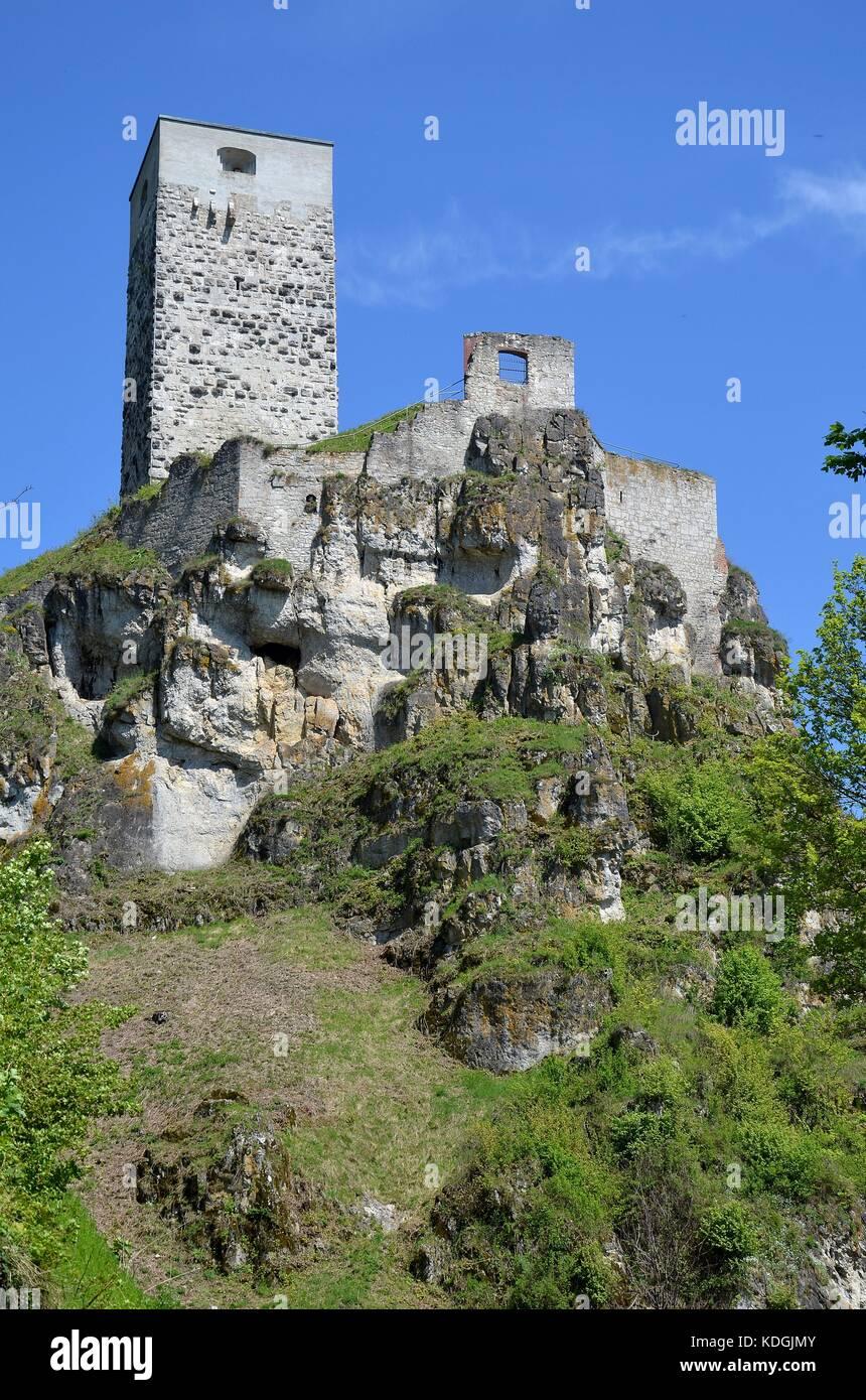Die Burg von Wellheim, Bayern Stock Photo