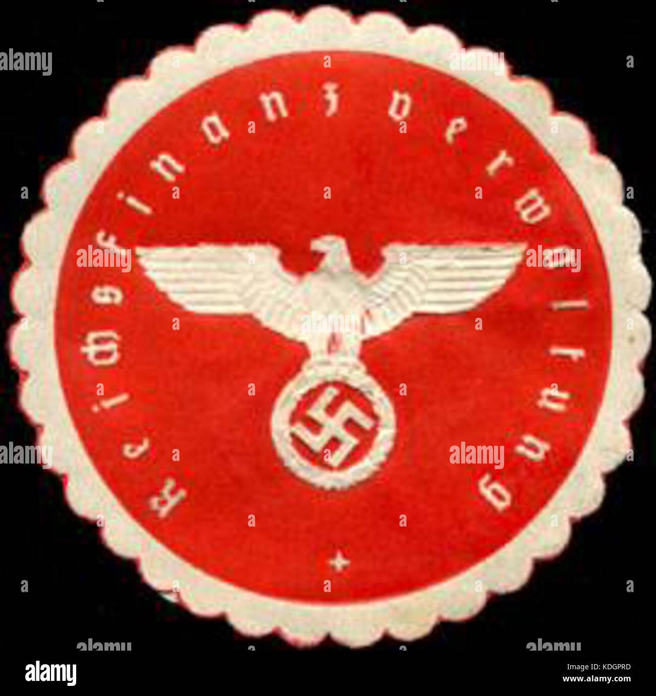 Siegelmarke Reichsfinanzverwaltung W0204934 Stock Photo