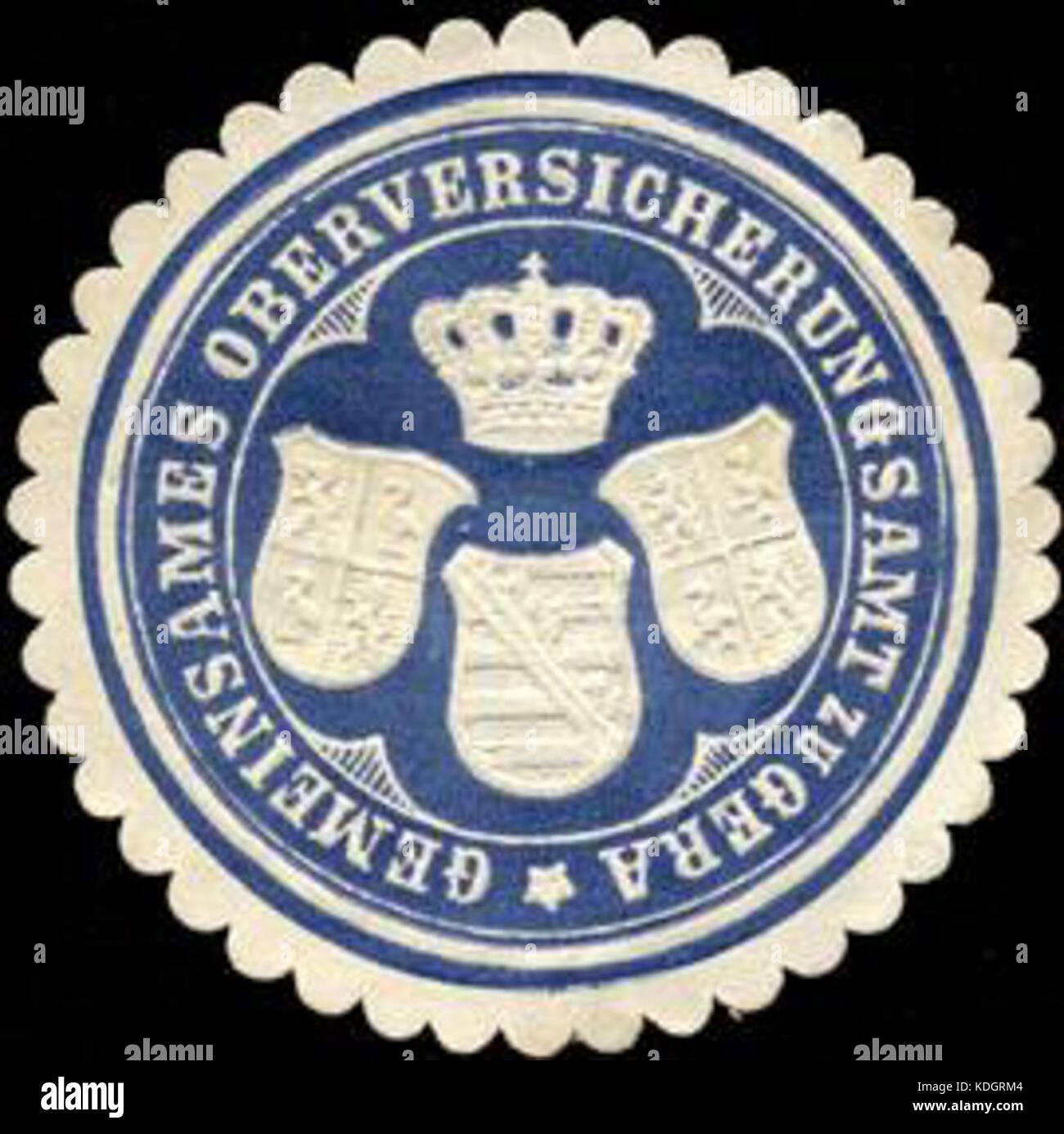 Siegelmarke Gemeinsames Oberversicherungsamt zu Gera W0211690 Stock Photo