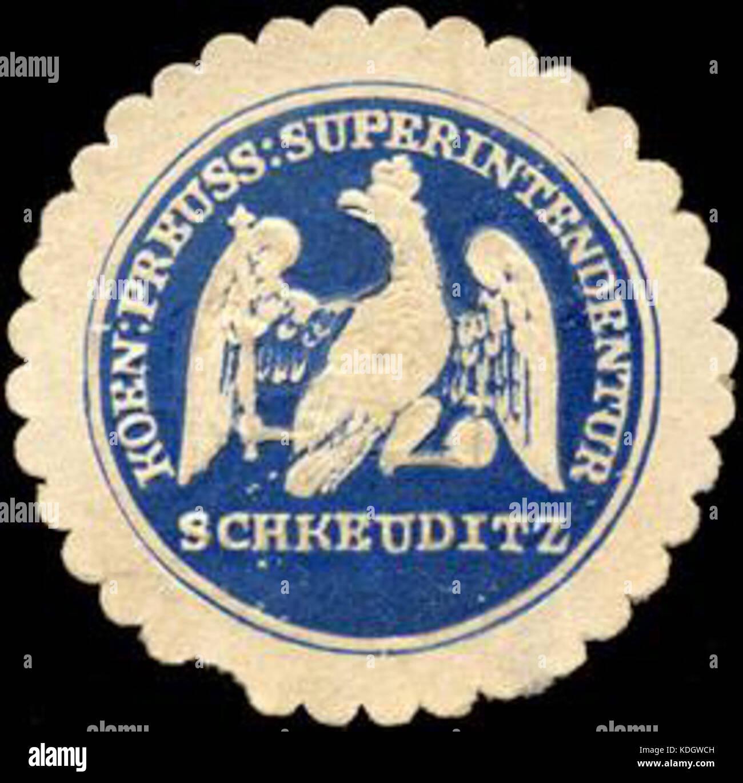Siegelmarke Koeniglich Preussische Superintendentur Schkeuditz W0219823 Stock Photo