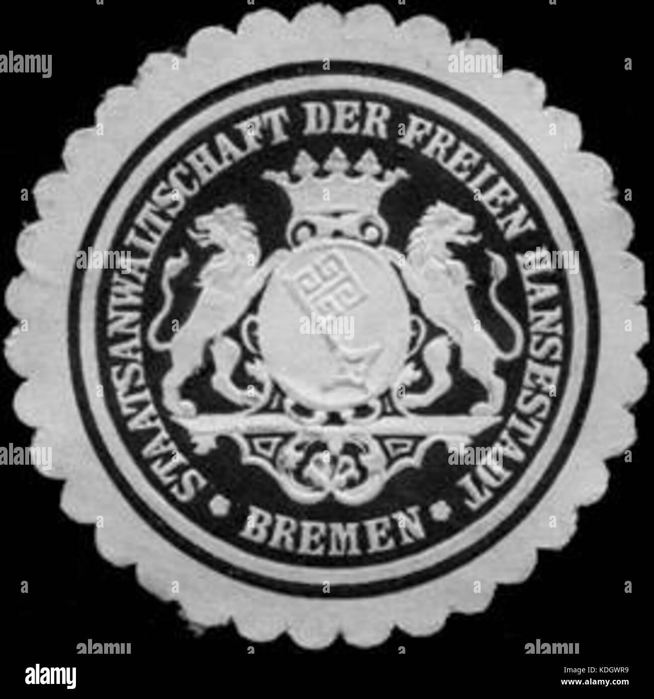 Siegelmarke Staatsanwaltschaft der Freien Hansestadt   Bremen W0221364 Stock Photo