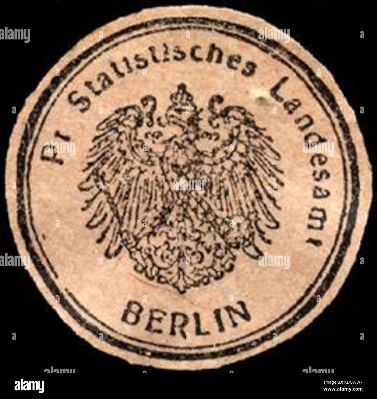 Siegelmarke Preussisches Statistisches Landesamt Berlin W0221566 ...